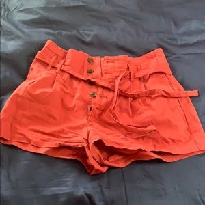 Abercrombie High Waited Shorts w 5 Buttons and Tie